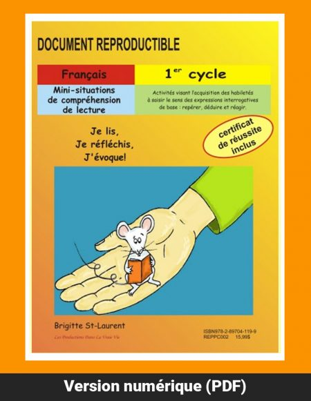 Mini-situations de compréhension de lecture, 1er cycle par Brigitte St-Laurent, Reproductible, PDF