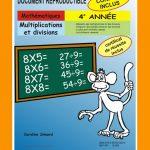 Multiplications et divisions, 4e année par Caroline Simard, Reproductible, PDF