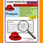 Révision des règles du 3e cycle par Danielle Malenfant, Reproductible, PDF