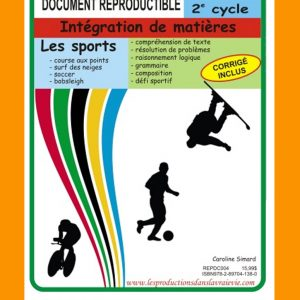 Sports 2e cycle, par Caroline Simard, Reproductible, PDF