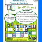 Jeu éducatif Trouvez les Équations, mathématiques, 2e et 3e cycle