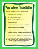 Affiche Pour vaincre l'intimidation